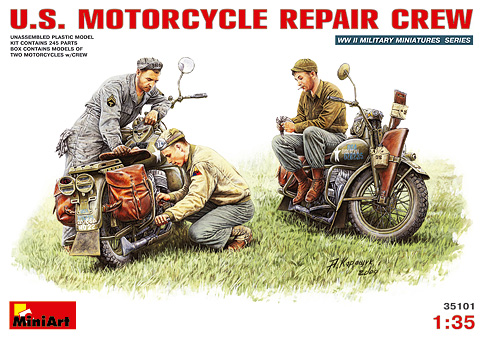 MiniArt - 35101  U.S. MOTORCYCLE REPAIR CREW