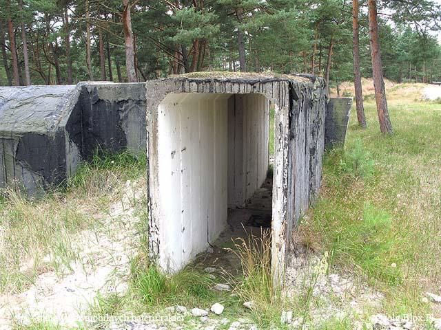 Stanowiska wyrzutni rakiet w Łebie