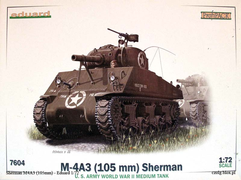 Sherman M4A3 105mm - Eduard 1/72