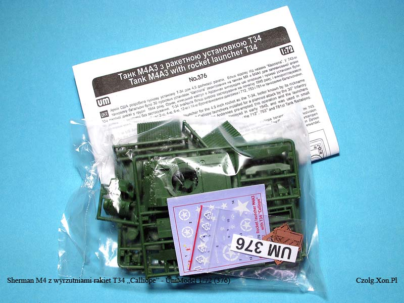 Unimodels 376 - Sherman with rocket launcher T34