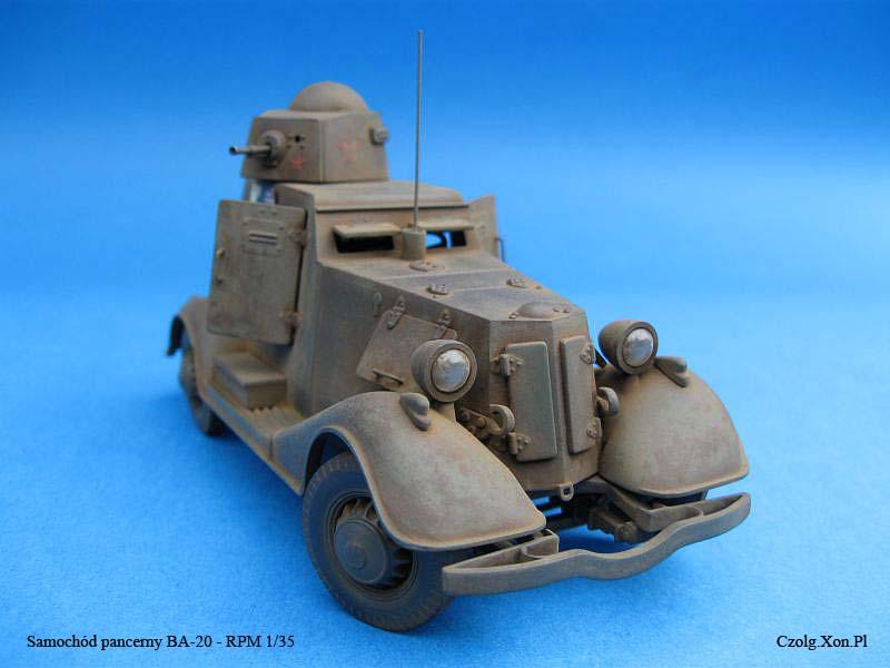 Samochód Pancerny BA-20 - RPM 1/35