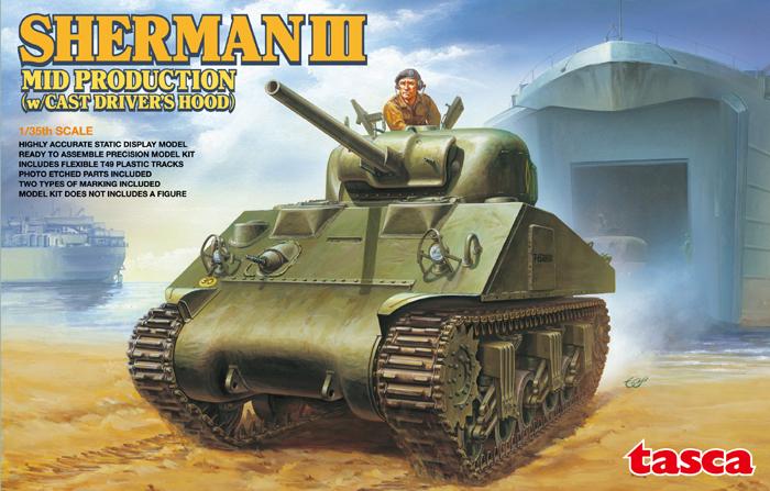 Sherman III (M4A2) - Tasca 1/35