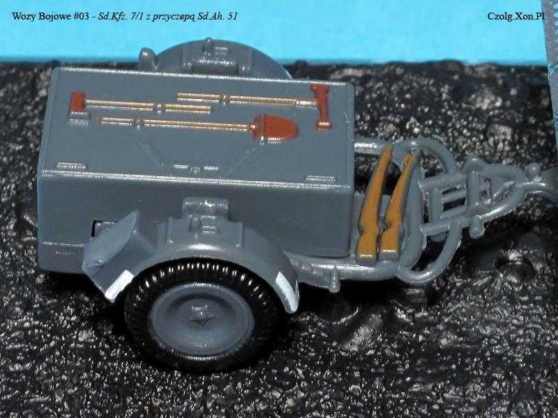 Kolekcja Wozów Bojowych Nr.3 - Sd.Kfz. 7/1 z przyczepą Sd.Ah. 51.